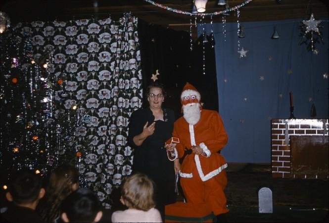 Mrs. Trent and Santa