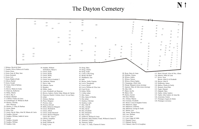 Map of Dayton Cemetery
