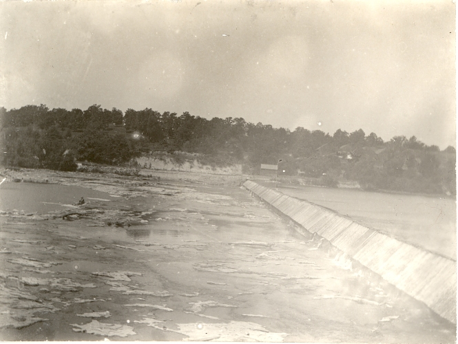old dam built by state of Illinois