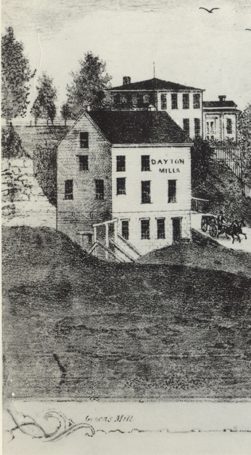 Green's Mill with house behind