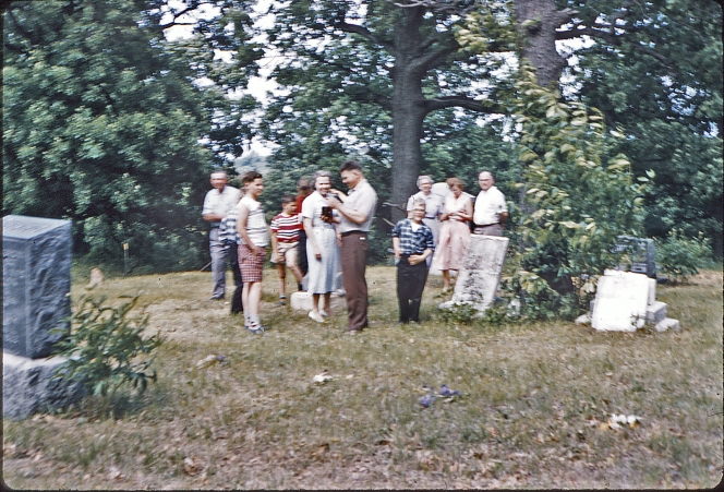 1958 cemetery work party
