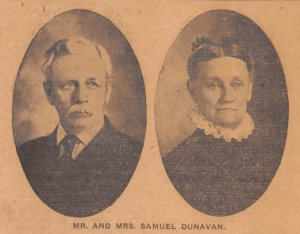 Mr. and Mrs, Samuel Dunavan