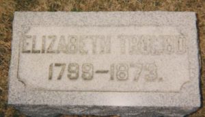 Elizabeth Trumbo tombstone