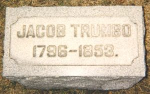 Jacob Trumbo tombstone