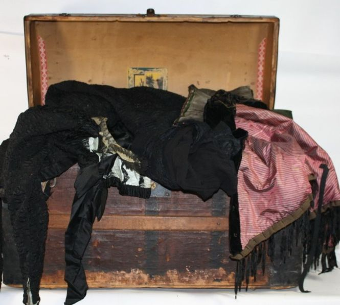 Trunk with old clothes